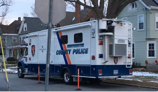 Westchester County police are helping Pleasantville police with the investigation into the deaths of a family of four at 57 Romer Ave. The deaths were discovered Thursday, Dec. 5, 2019. The truck is at the scene on Dec. 6.