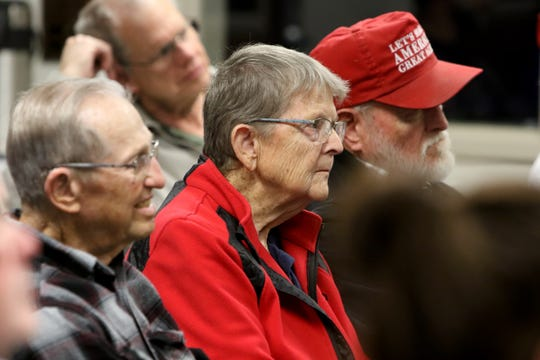 The Wichita Falls Tea Party held a candidate forum with six republican candidates for the U.S. House District 13 Thursday, Dec. 5, 2019, at the Red River Harley-Davidson.