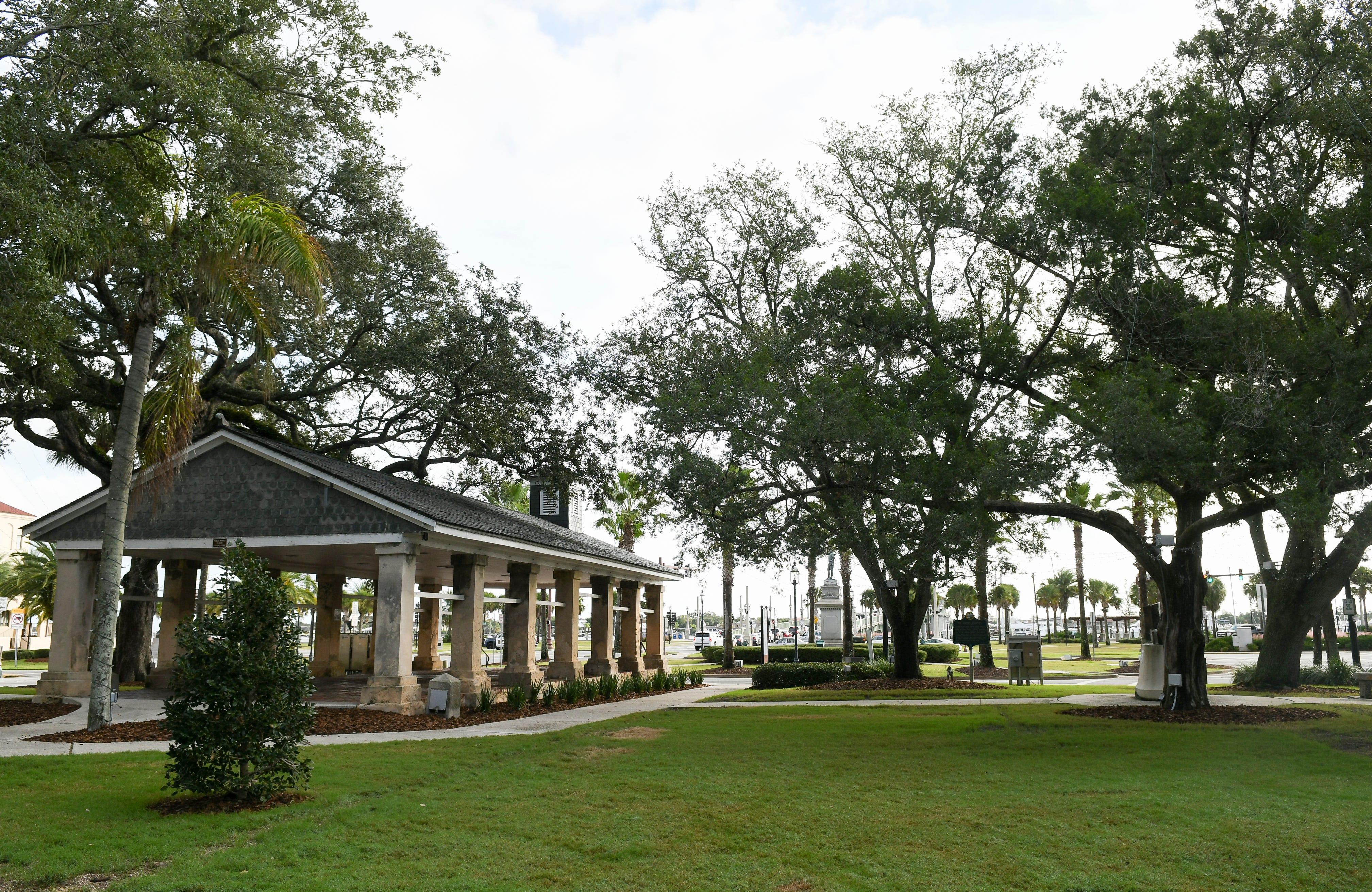 This open air pavilion in St. Augustine's Plaza de la Constitucion is called The Slave Market.