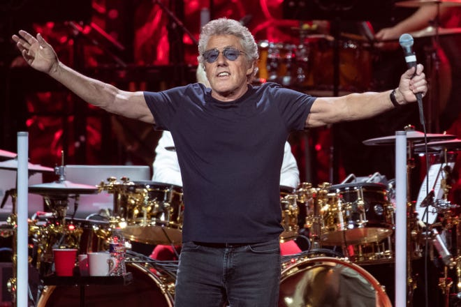 Roger Daltrey performs at the Toyota Center in Houston in September.