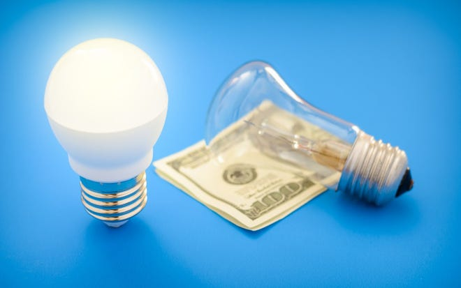 LED light bulbs save money versus incandescent light bulbs