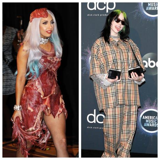 Vegan Billie Eilish gets seared for shading Lady Gaga's iconic meat dress