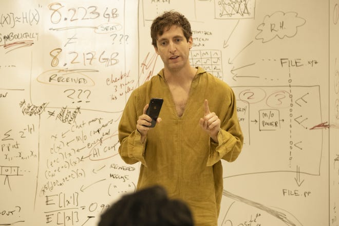 Pied Piper CEO Richard Hendricks (Thomas Middleditch) discovers a problem with his company's state-of-the-art network in the series finale of HBO's 'Silicon Valley.'
