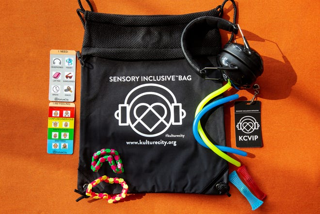 Guests on sensory-inclusive Carnival ships can check out sensory bags with noise-canceling headphones and other gear to help people with sensory disabilities remain calm and communicate..