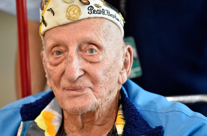While in New York City, Pearl Harbor survivor John Seelie paid his respects to victims of the 9/11 attack on the World Trade Center, toured Ten House — home of the first responders nearest the World Trade Center — and attended a Memorial Day ceremony at the Intrepid Sea, Air and Space Museum aboard the USS Intrepid.