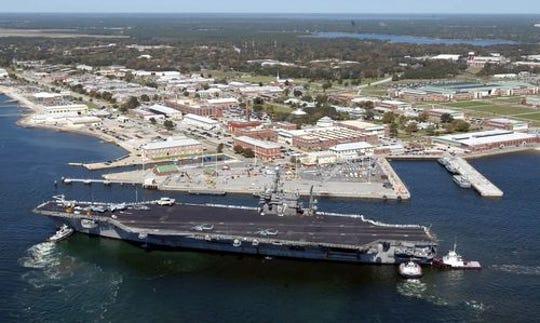 Estación Naval de Pensacola en Florida. Foto archivo.
