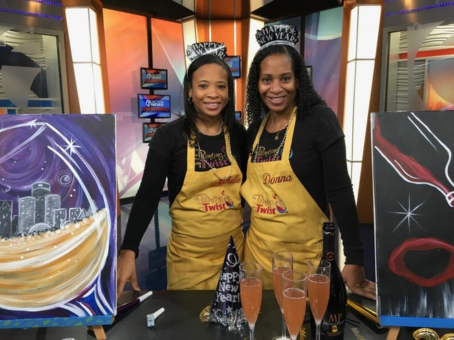 Michelle Lewis (left) and Donna Lewis (Right) jointly opened up a Painting With a Twist franchise in Detroit.