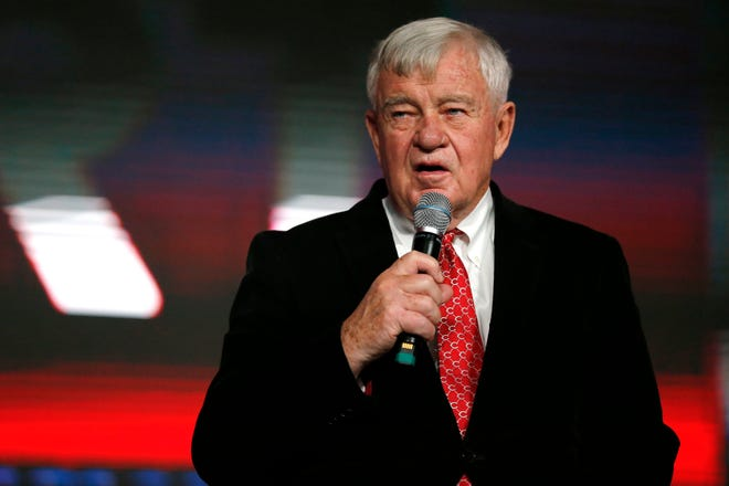 Cincinnati Reds owner Bob Castellini discusses the upcoming season during RedsFest at the Duke Energy Convention Center in Downtown Cincinnati on Friday, Dec. 6, 2019.