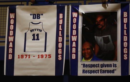 Dennis Bettis jersey was retired at halftime of their basketball game against Hughes, Friday, Dec. 6, 2019.