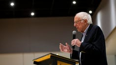 Vermont Senator and 2020 Democratic presidential candidate Bernie Sanders speaks at the Iowa Farmers Union Annual Convention at Hotel Grinnell on Friday, Dec. 6, 2019, in Grinnell.
