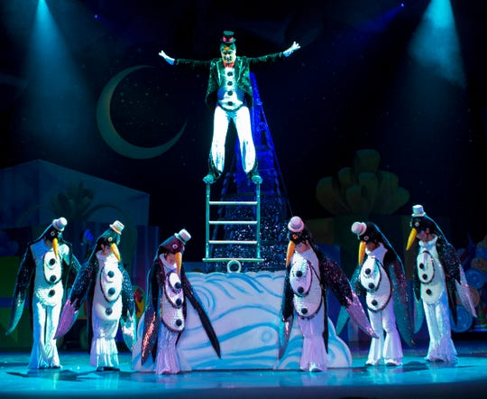 """""""Cirque Dreams Holidaze"""" showcases the talents of acrobats, contortionists and other circus performers."""