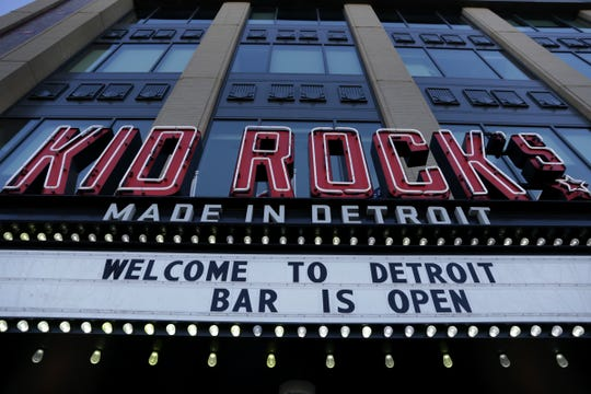 Kid Rock's Made in Detroit restaurant at Little Caesars Arena in Detroit on Thursday, March 22, 2018.