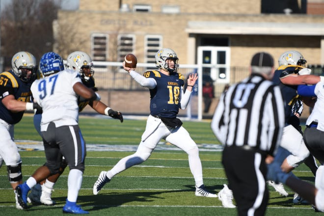 Marian QB Ethan Darter finished Saturday's win over Lindsey Wilson with 186 yards and a touchdown.