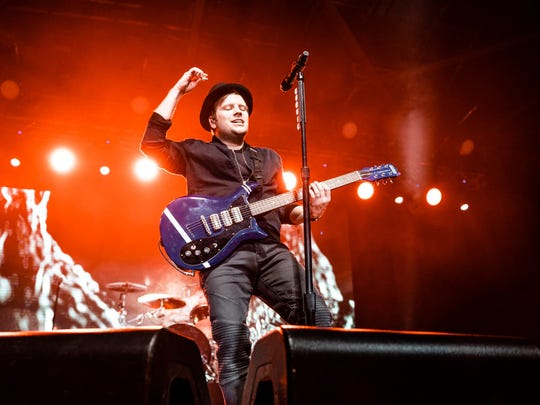 Patrick Stump performs with Fall Out Boy Friday at the Pavilion at Pan Am.