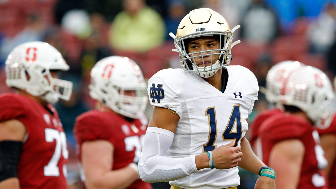 Notre Dame football freshman Kyle Hamilton excels at ...