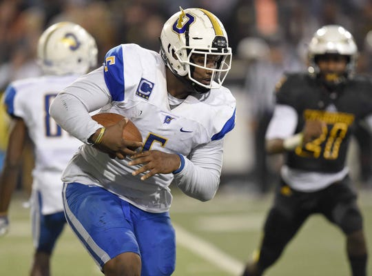 Auburn tight signee JJ Pegues pictured playing for Oxford (Miss.) High during the MHSAA Class 6A State Championship at M.M. Roberts Stadium on the University of Southern Mississippi campus in Hattiesburg on Friday, December 6, 2019.