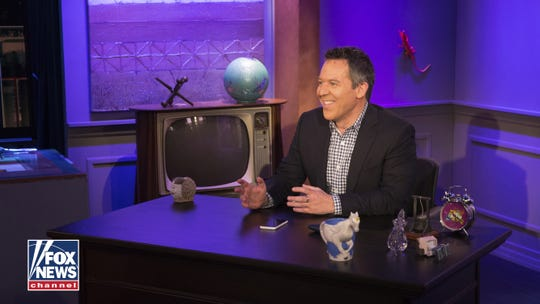 Greg Gutfeld of 'The Five' and 'The Greg Gutfeld Show' sits on a set for Fox News Channel. The TV host is coming to Knoxville on Sunday, Dec. 8, 2019, to bring his most recent book to life in front of a sold-out audience.