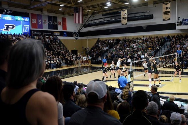 Purdue takes on Wright State in the first round of the NCAA Div I Women's Volleyball Championships, Friday, Dec. 6, 2019 in West Lafayette, Ind.