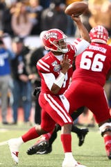 Levi Lewis threw for a career-high 354 yards and four touchdowns in Saturday's Sun Belt title game, but he was intercepted one and lost a fumble in UL's 45-38 loss to No. 20 Appalachian State.