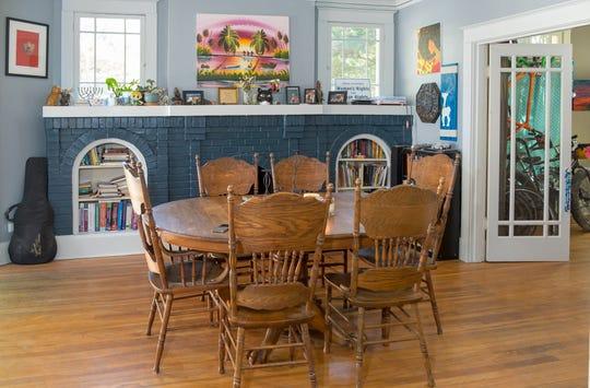 The dining room in Stuart and Megan Janssen's Midtown Home.