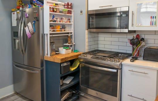 The kitchen in Stuart and Megan Janssen's Midtown home.