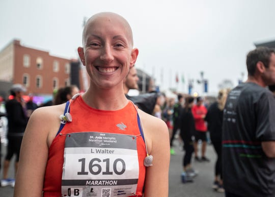 Lindsay Walter chose the 2019 St. Jude Memphis Marathon Weekend as the 40th race of her running on career on Saturday, Dec. 7, 2019.