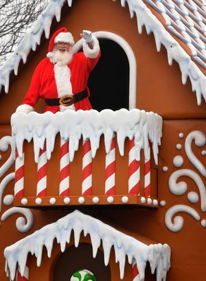 Santa makes his appearance at Nashville's  annual Christmas Parade in December 2019.