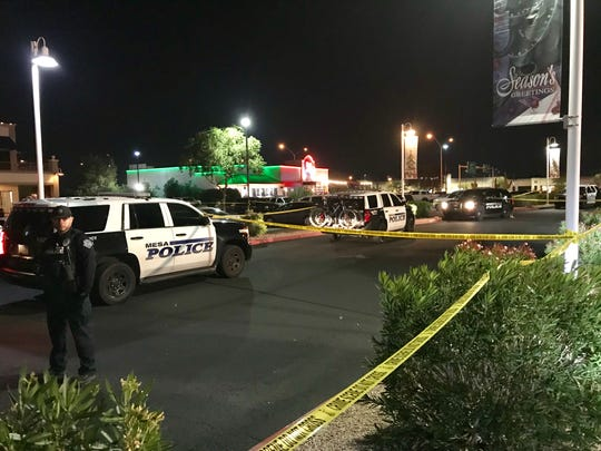The scene of a shooting in Mesa involving a police officer on Dec. 6, 2019.