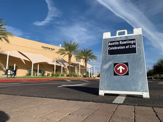 A celebration of life was held for Austin Rawlings at the Christ's Church of the Valley campus in Peoria on Dec. 6, 2019.