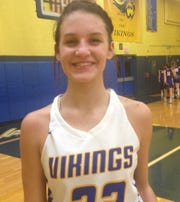 Zara Zerman began her senior year by scoring 26 points in the Vikings' win over Ephrata. Tuesday night she scored a game-high 24 in Northern Lebanon's tight 37-35 win over Elco.