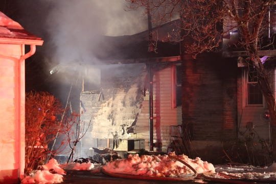 Roosevelt Fire District responded to a two-alarm structure fire on Creek Road in Hyde Park on Dec. 6, 2019.