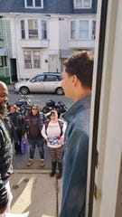 Castillo opened the door to strangers, but they quickly became friends after the local motorcycle club explained that they were there for his birthday.