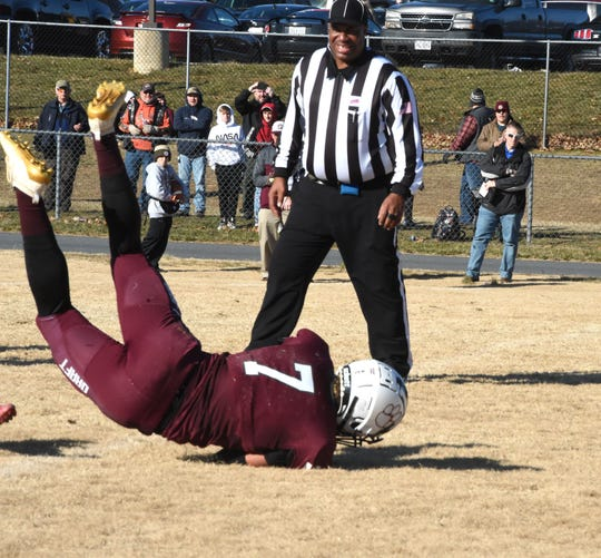 Freddie Watkins scores one of his three first-half touchdowns for Stuarts Draft Saturday, Dec. 7, in the Class 2 state semifinals.