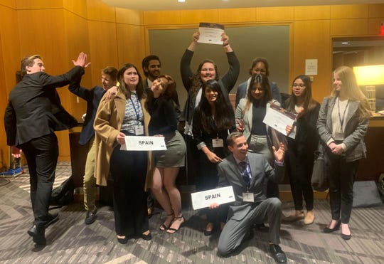 Tallahassee Community College Model United Nations students celebrate during November trip to Washington, D.C.