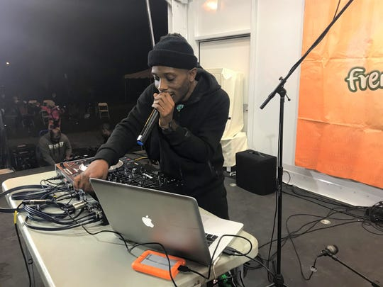 DJ Lil Boy provided music for the crowd at the Frenchtown Get Down on Friday, Dec. 6, 2019. The event celebrated FAMU football.