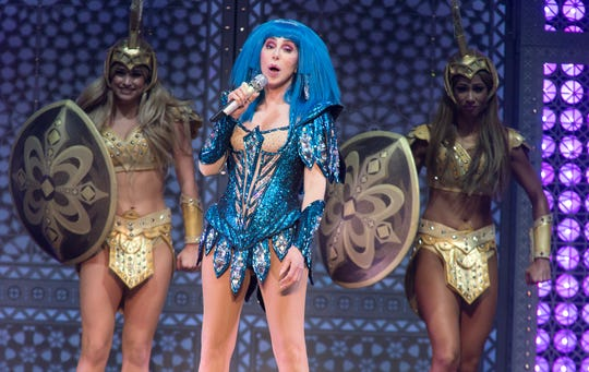 "Cher performs in concert during her ""Here We Go Again Tour"" at The Wells Fargo Center on Friday, Dec. 6, 2019, in Philadelphia."