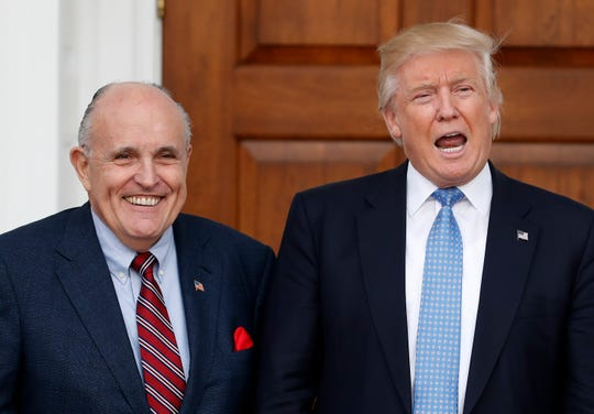 President Donald Trump and attorney Rudy Giuliani