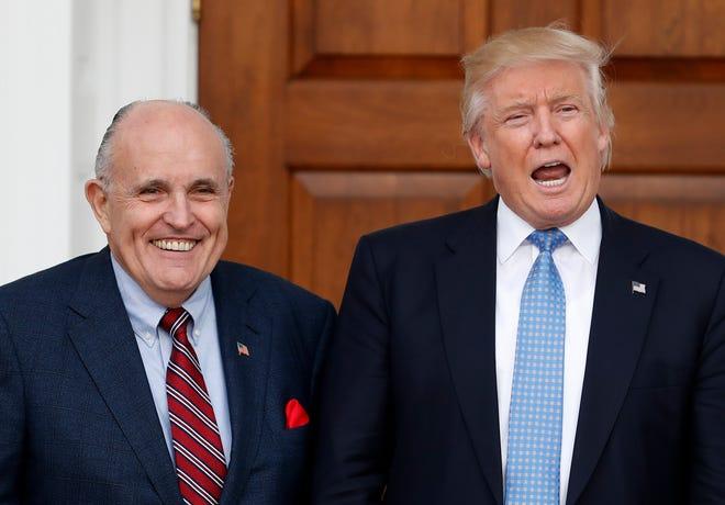 President Donald Trump and attorney Rudy Giuliani