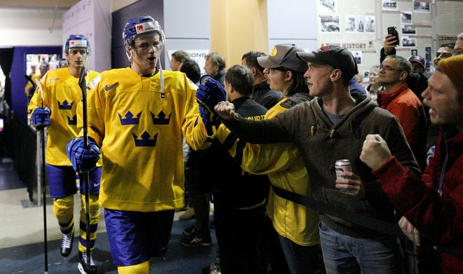 Defenseman Adam Ginning, a Flyers second-round pick in 2018, will be on Sweden's team and may even be the captain.