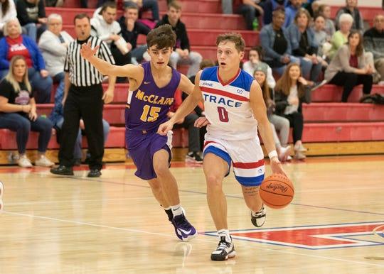 The Zane Trace boys basketball team defeated McClain 87-41 Saturday night at Zane Trace High School in Chillicothe, Ohio.