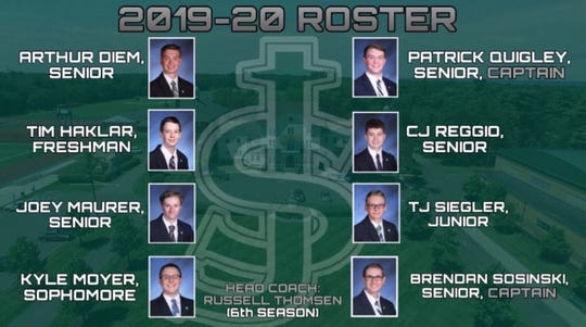 The St. Joseph High School boys bowling team's 2019-20 roster