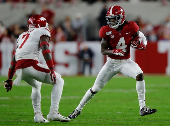 Alabama receiver Jerry Jeudy. 2019 stats: 71 catches for 959 yards and nine TDs.