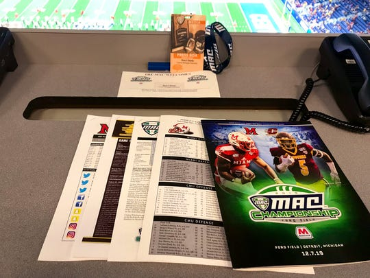 Row 1, seat 10 of Ford Field's press row sat empty for Don Chiodo on Saturday at the MAC championship game.
