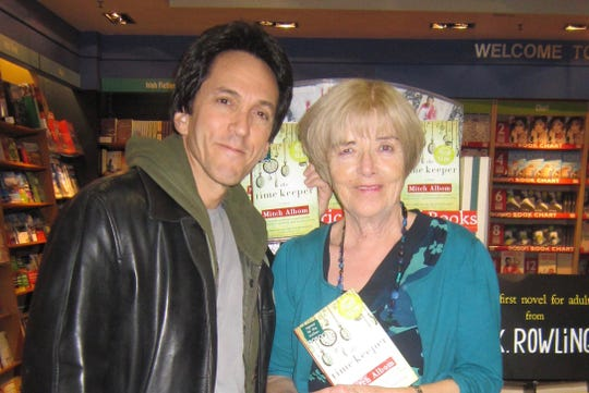 Free Press columnist with Margaret Daly in Ireland in 2012.