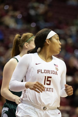 Redshirt senior Kiah Gillespie has averaged 16 points and 10 rebounds so far this season.