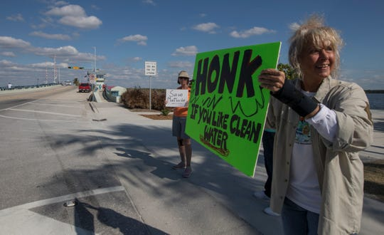 Lawrencine Mazzoli was one of about a dozen protestors urging the Cape Coral City Council to reject annexing land it owns at the entrance to Matlacha.  Monday night, the Cape council did what Mazzoli asked and defeated the annexation question 5-2.