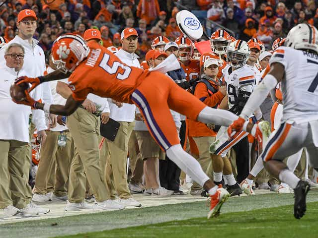 Image result for tee higgins photos against virginia