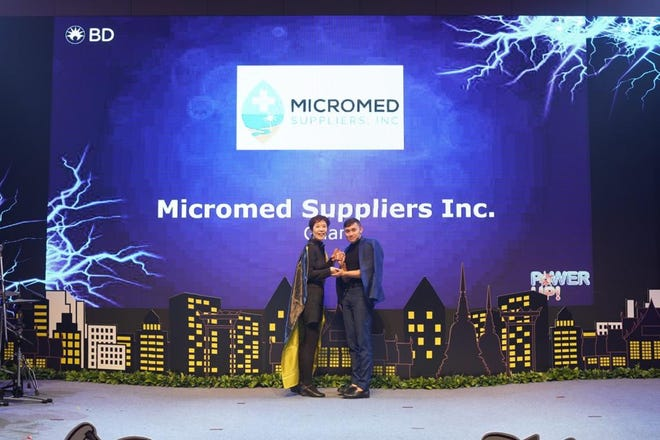 Guam-based Micromed Suppliers was recognized twice this year for outstanding performance in the Southeast Asia region.