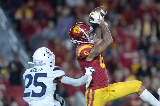 USC wide receiver Michael Pittman Jr. (6) has 95 receptions this season. He highlights a Trojans passing offense that ranks fifth in the country.