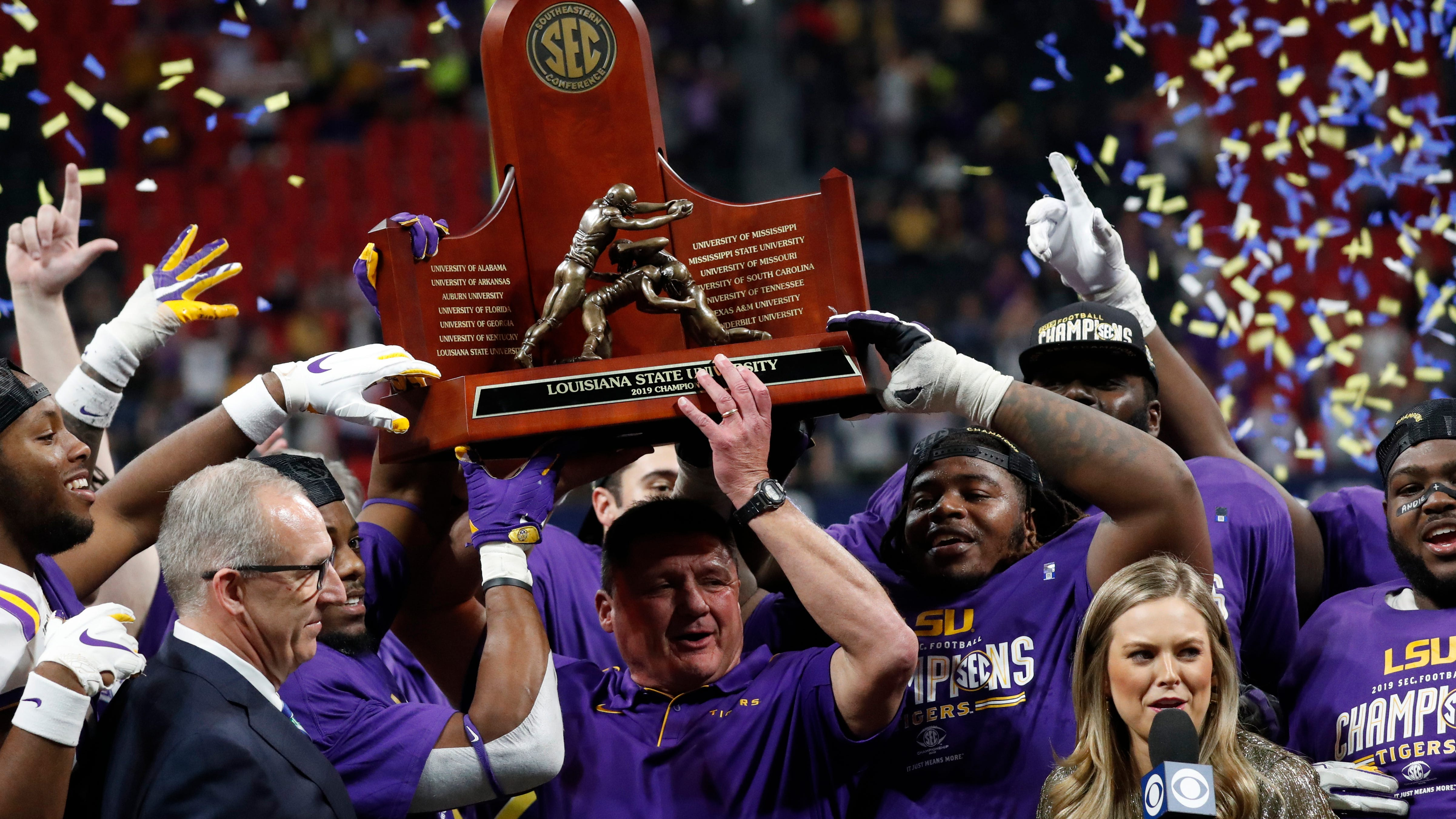 Next! SEC champion LSU in the clubhouse at 13-0